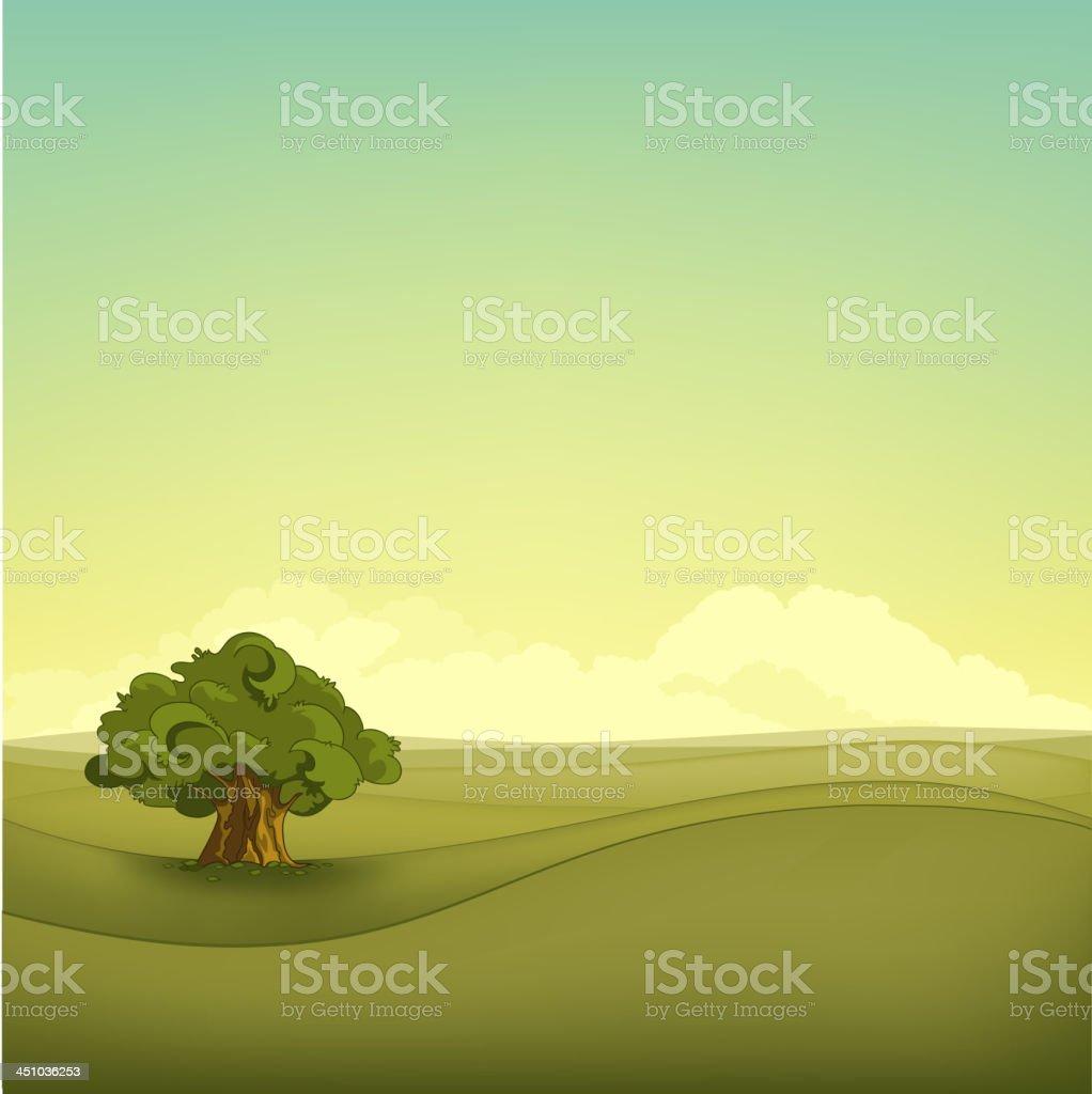 Field Landscape royalty-free stock vector art