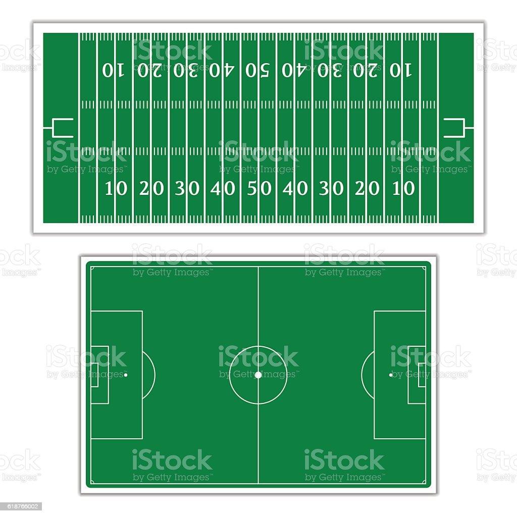 Field to play football, vector illustration. vector art illustration