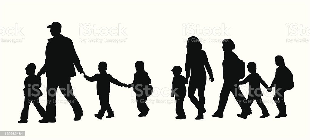 Field Trip Vector Silhouette royalty-free stock vector art