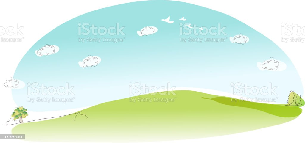 Field vector art illustration