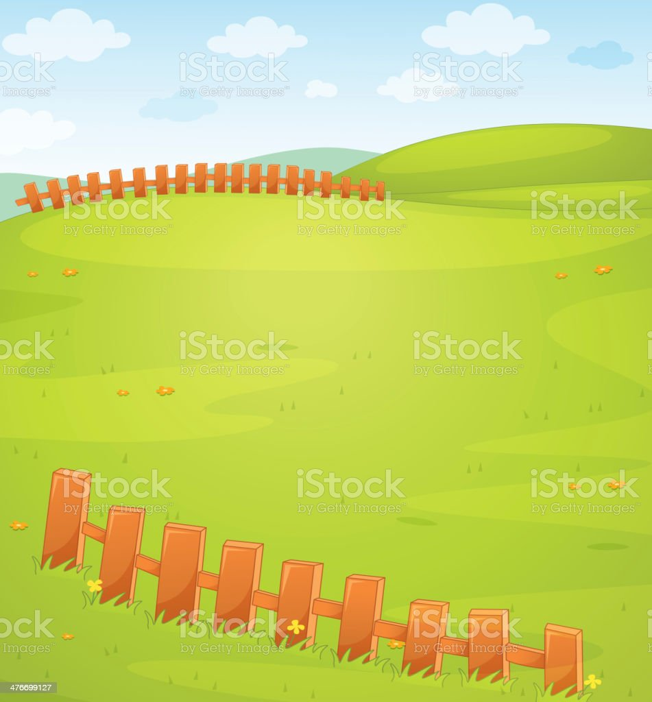 Field royalty-free stock vector art