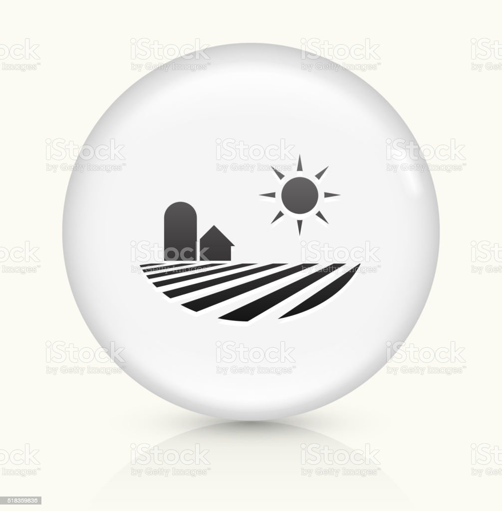 Fields icon on white round vector button vector art illustration