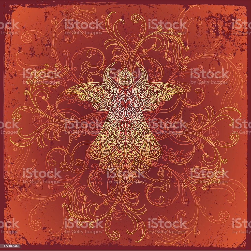 fiery angel royalty-free stock vector art