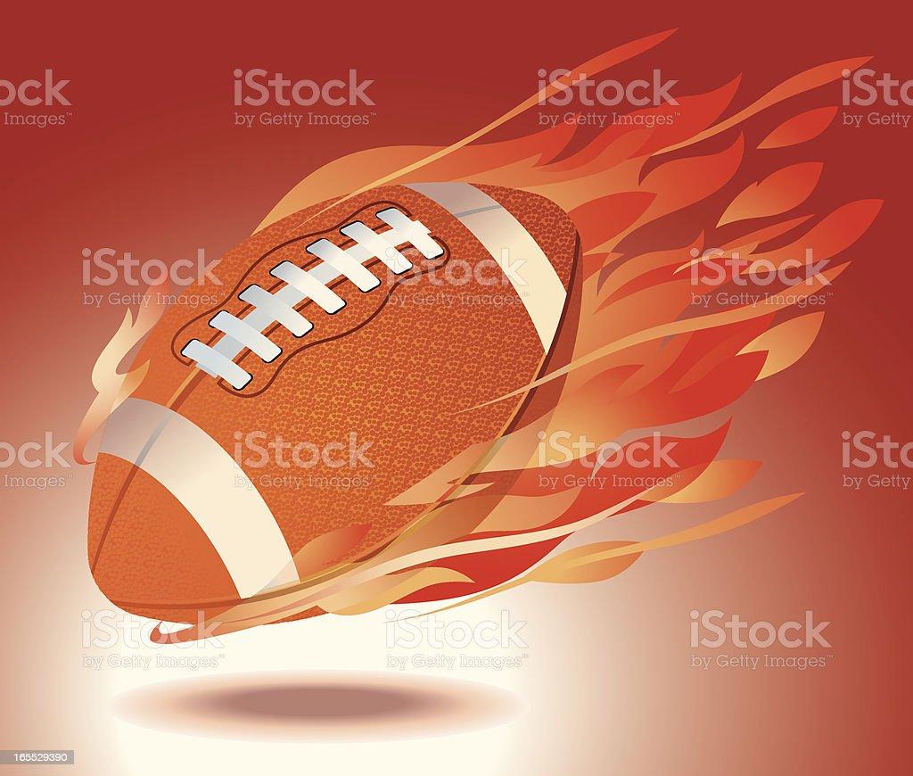 Fiery Football Vector vector art illustration