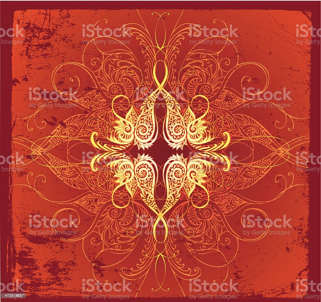 fiery intricacy royalty-free stock vector art