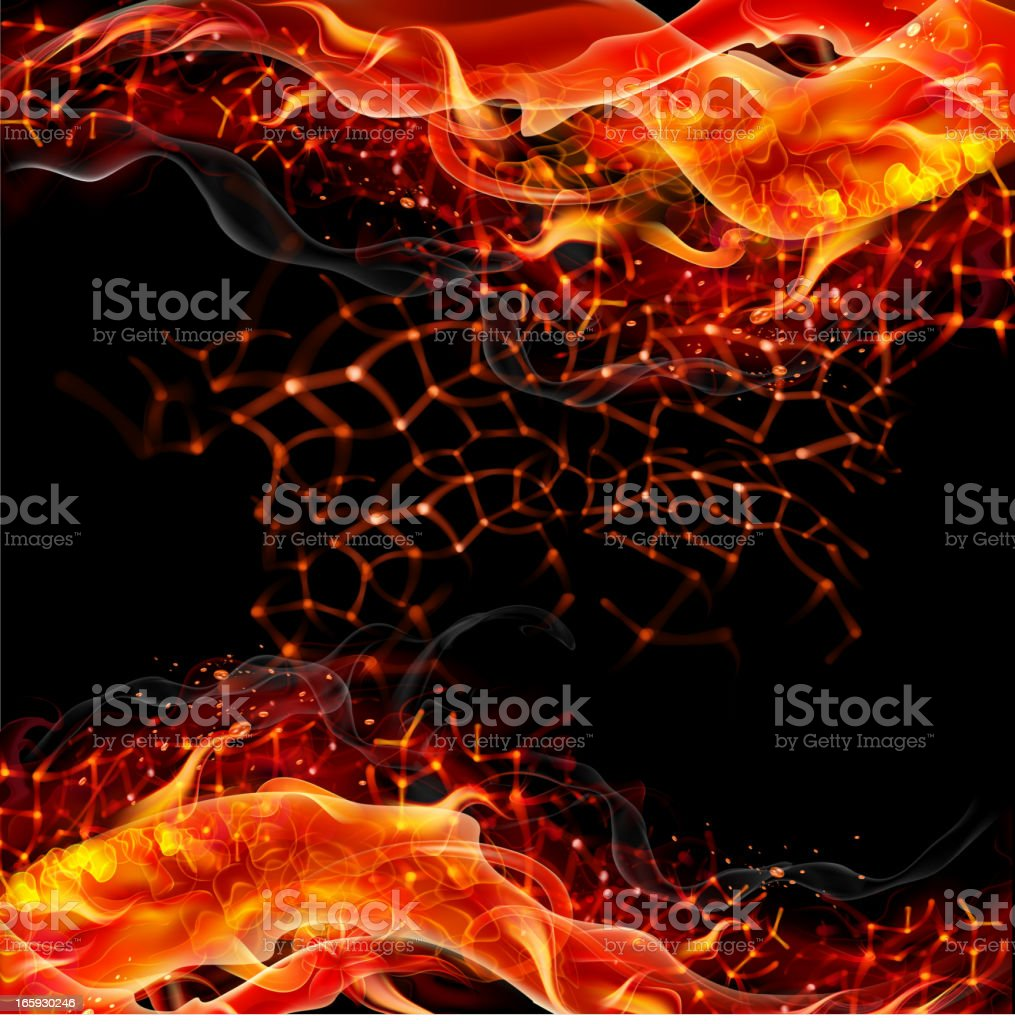 Fiery vector background vector art illustration