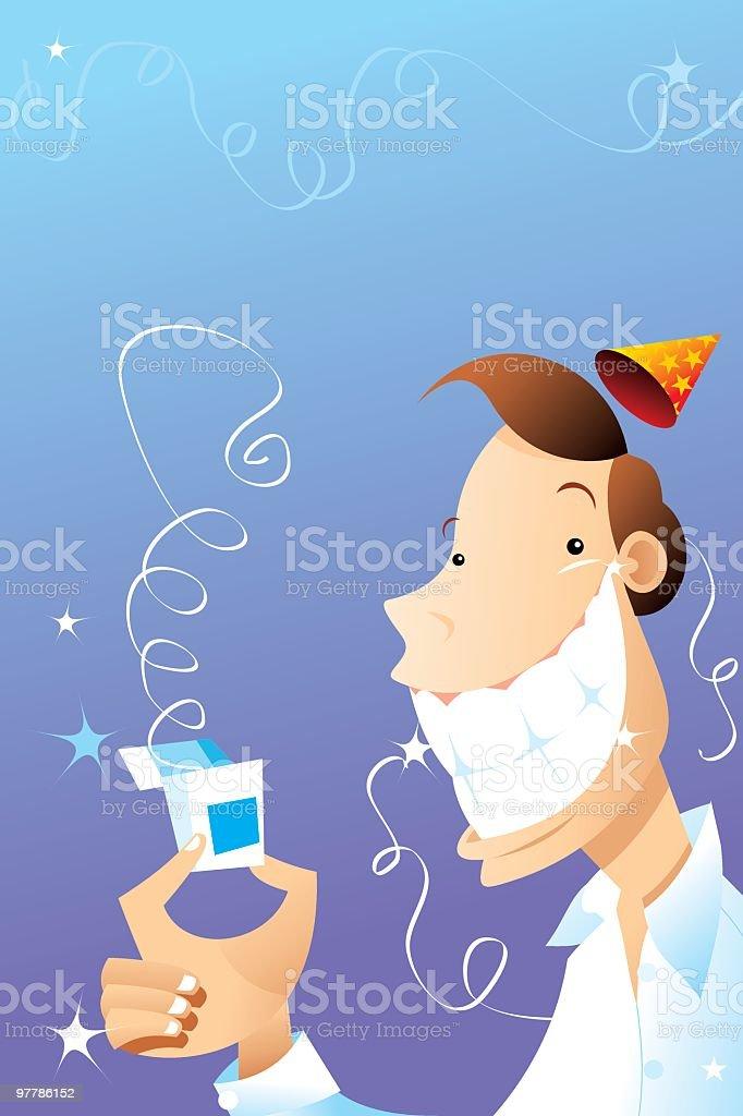 fiesta de hilo dental!! royalty-free stock vector art