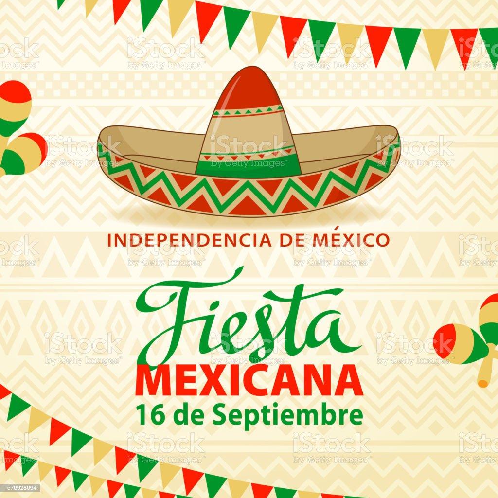 Fiesta Mexicana Background vector art illustration