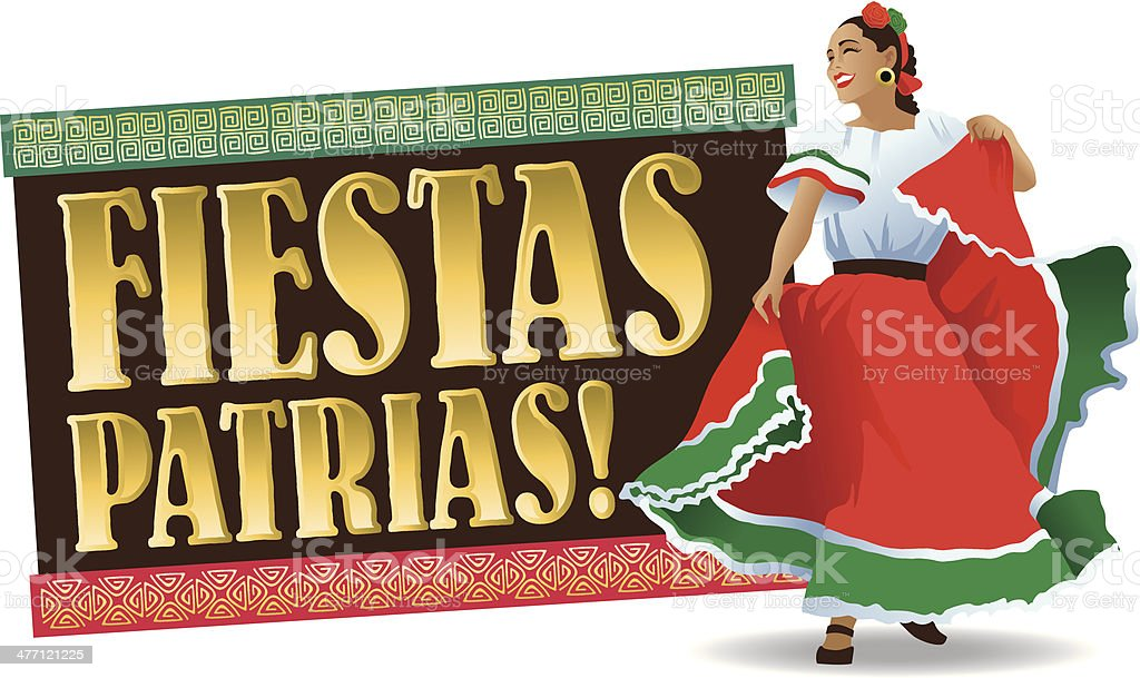 Fiestas Heading C vector art illustration