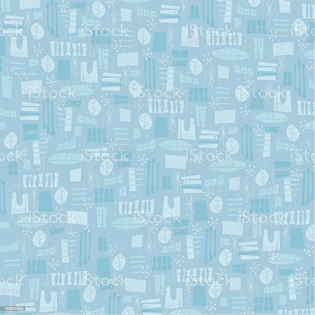 Fifties Blue Pattern Big royalty-free stock vector art