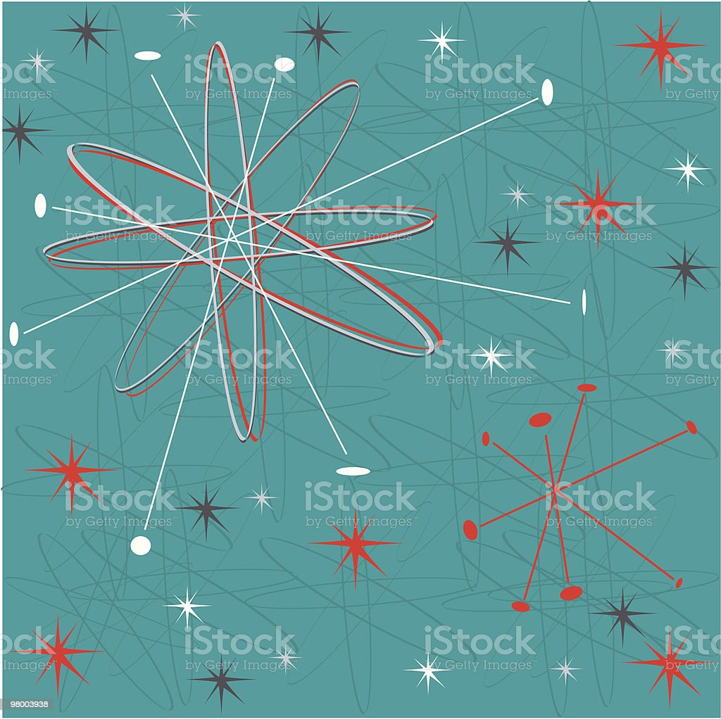 Fifties holiday wrap vector art illustration