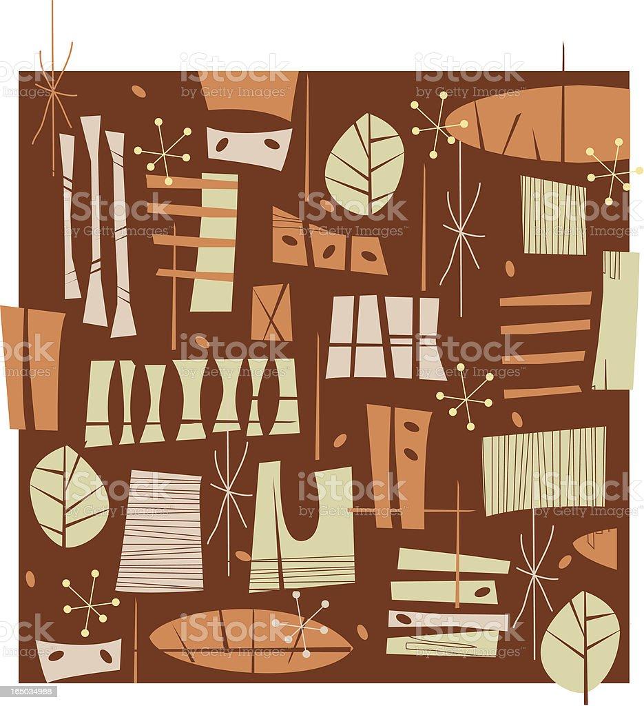 Fifties Retro Brown pattern royalty-free stock vector art