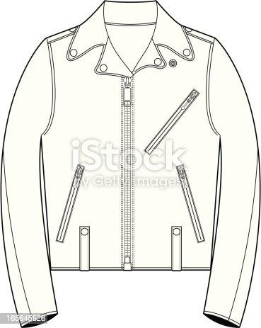 Fifties Style Biker Jacket Template stock vector art