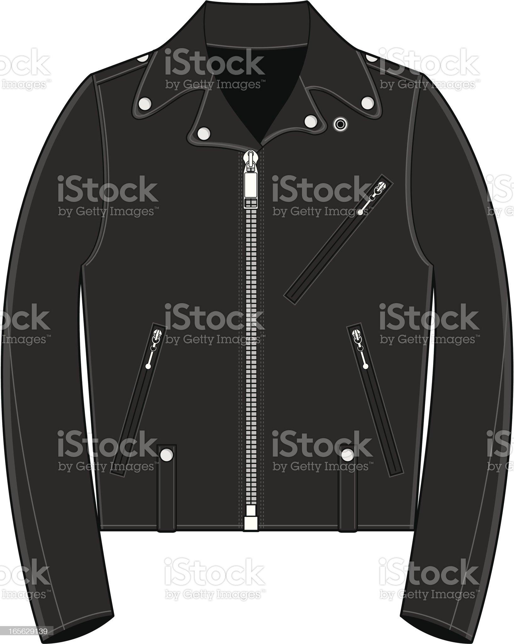 Fifties Style Biker Jacket royalty-free stock vector art