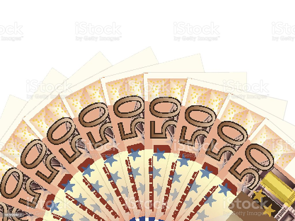 fifty euro banknotes royalty-free stock vector art