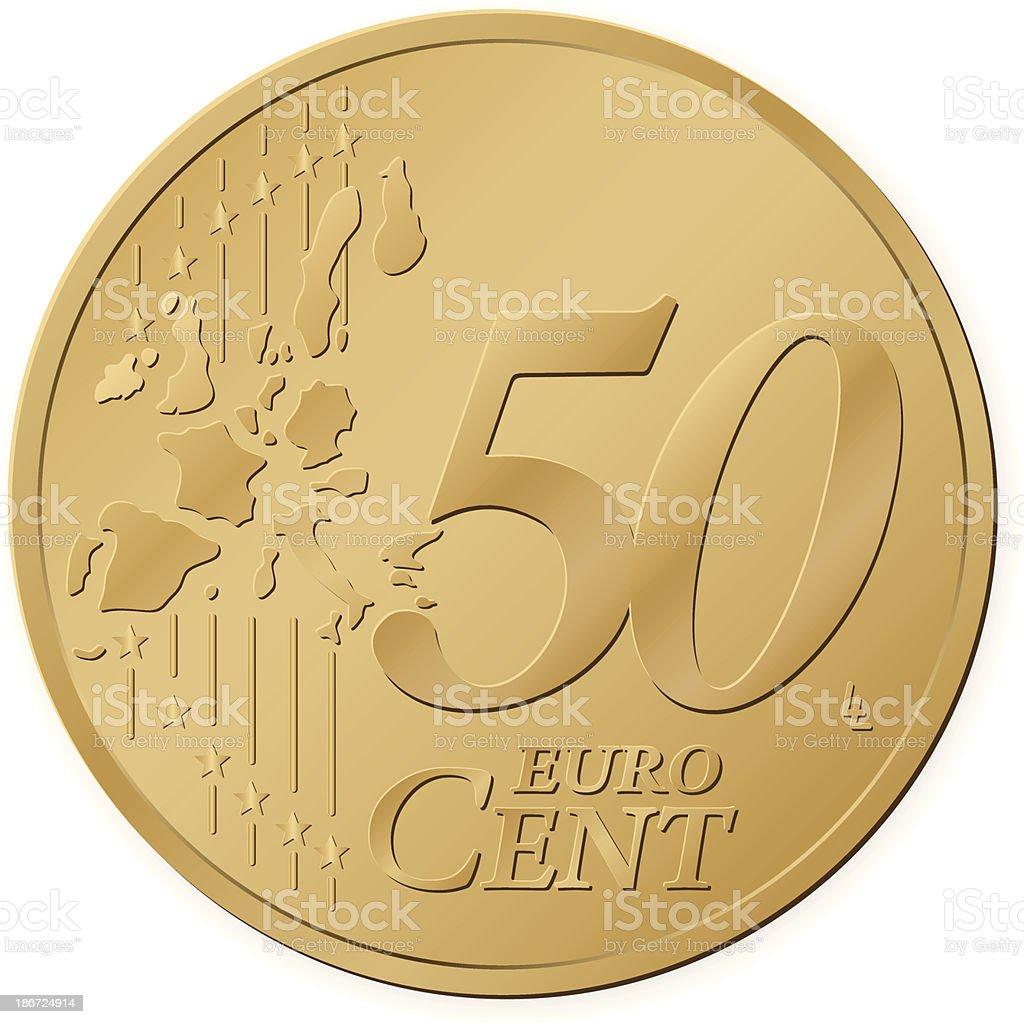 Moneta da 50 centesimi di euro illustrazione 186724914 for Moneta 50 centesimi