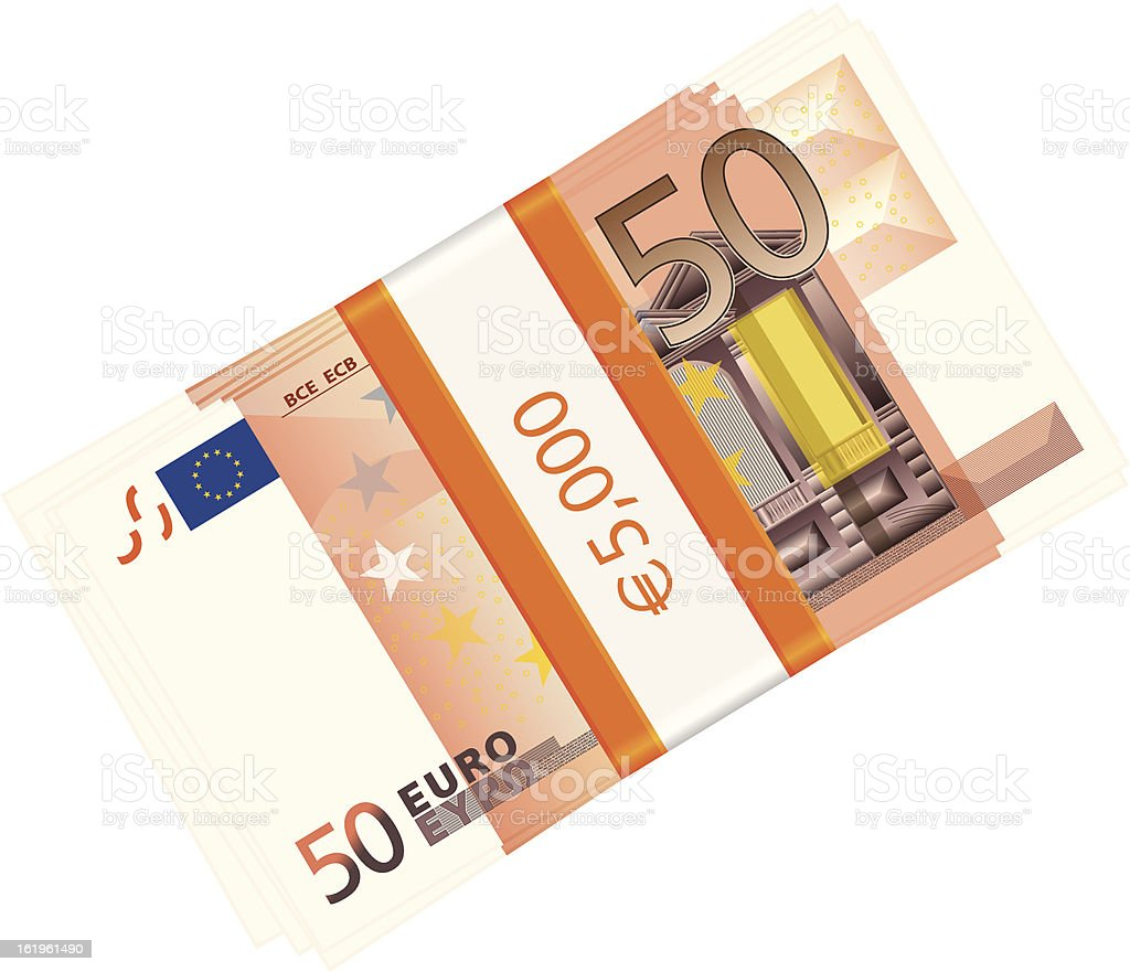 fifty euro pack royalty-free stock vector art