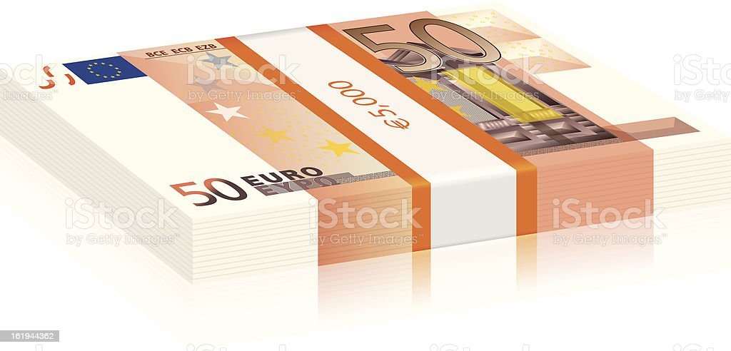 fifty euro stack royalty-free stock vector art