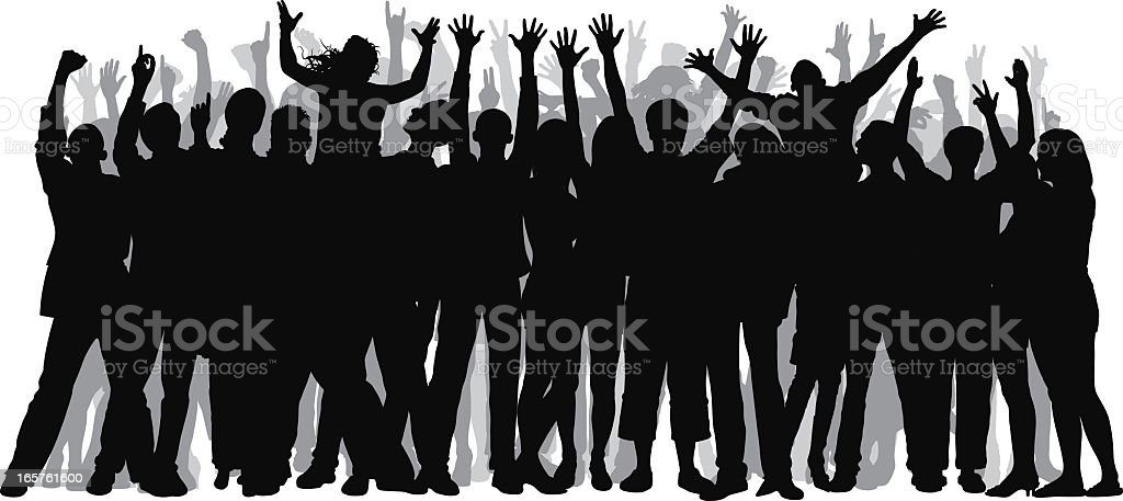 Fifty People (People Are Complete and Moveable) royalty-free stock vector art