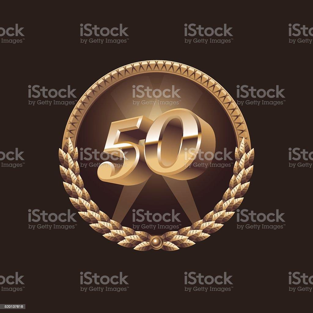 Fifty years anniversary celebration design vector art illustration