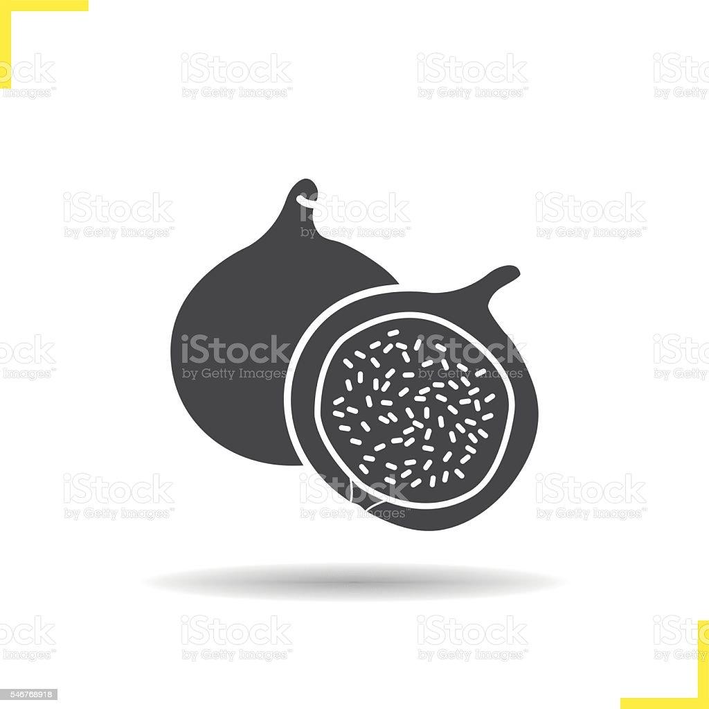 Fig icon vector art illustration