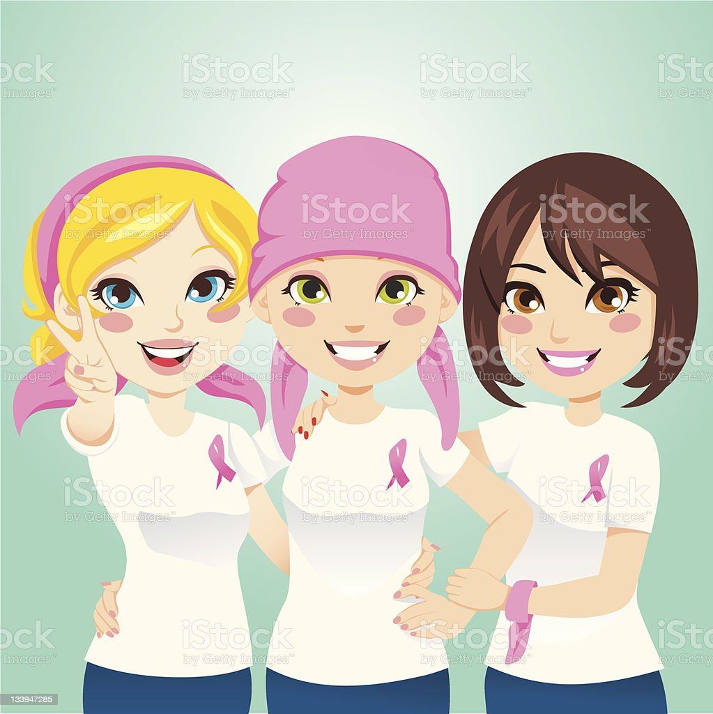 Fight Breast Cancer royalty-free stock vector art