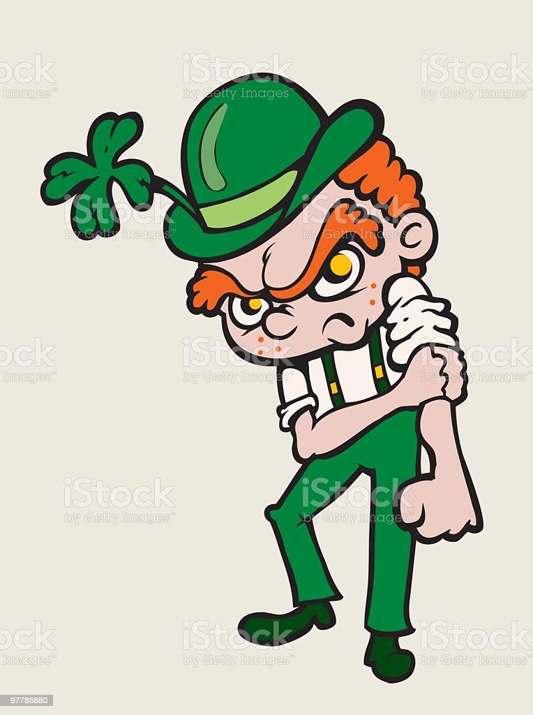 Fight Me I'm Irish royalty-free stock vector art
