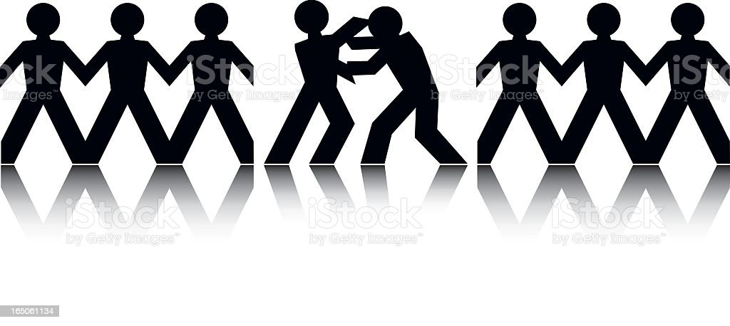 Fight royalty-free stock vector art