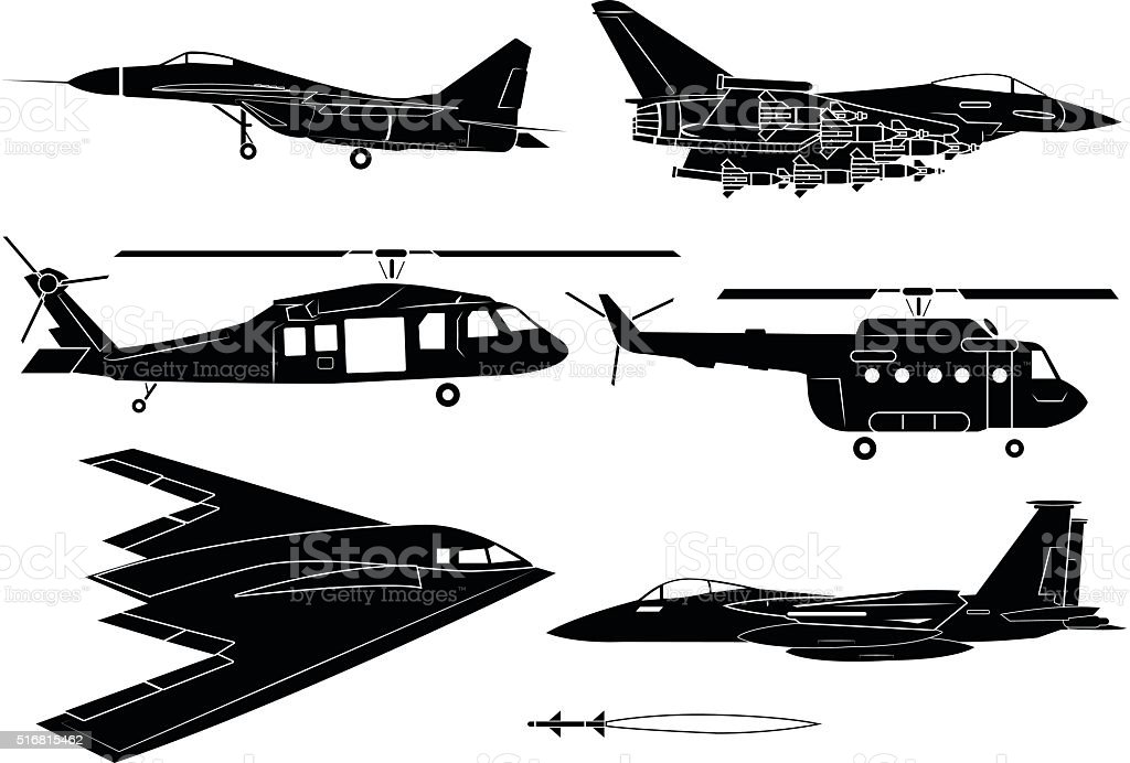 Fighter aircraft vector art illustration