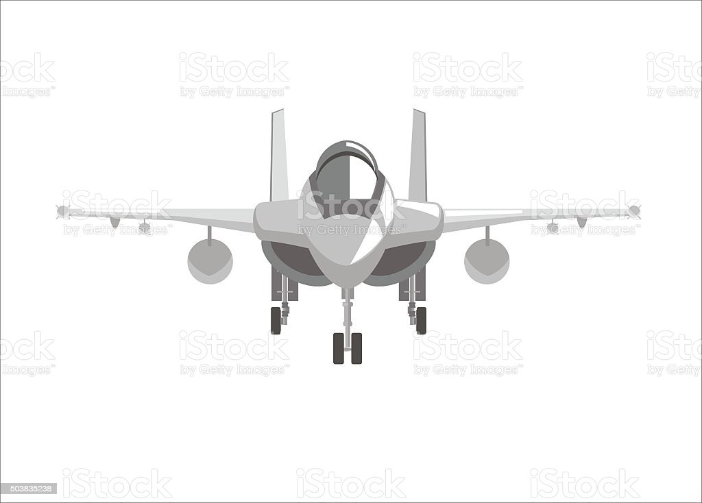 fighter jet plane simple illustration vector art illustration