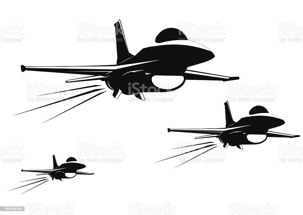 F 16 fighter jet royalty-free stock vector art