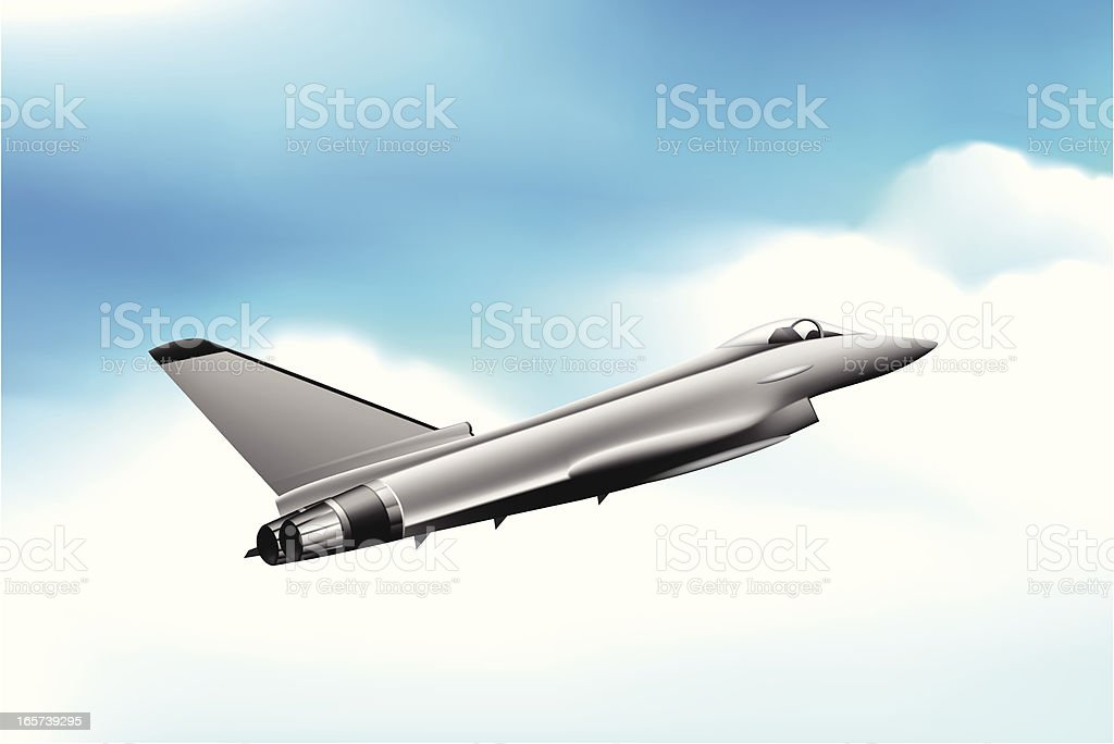 Fighter Jet royalty-free stock vector art