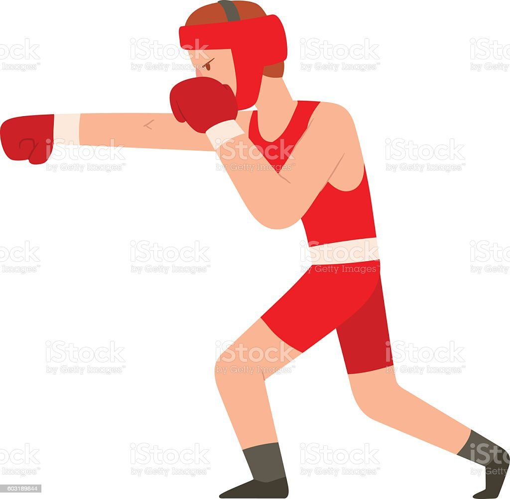 Fighter man vector vector art illustration