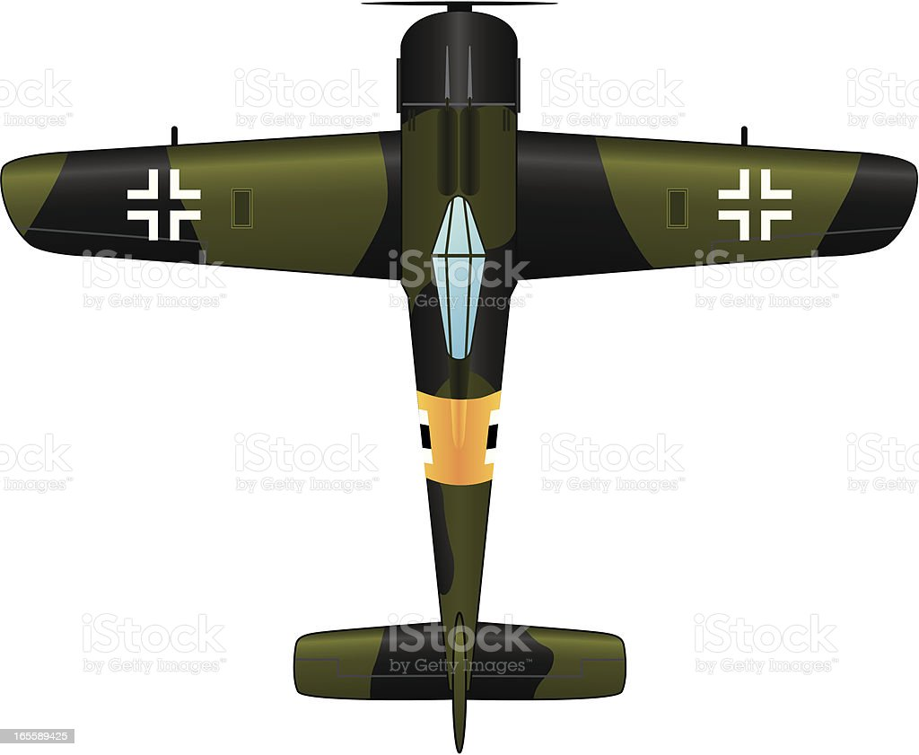 Fighter Plane vector art illustration