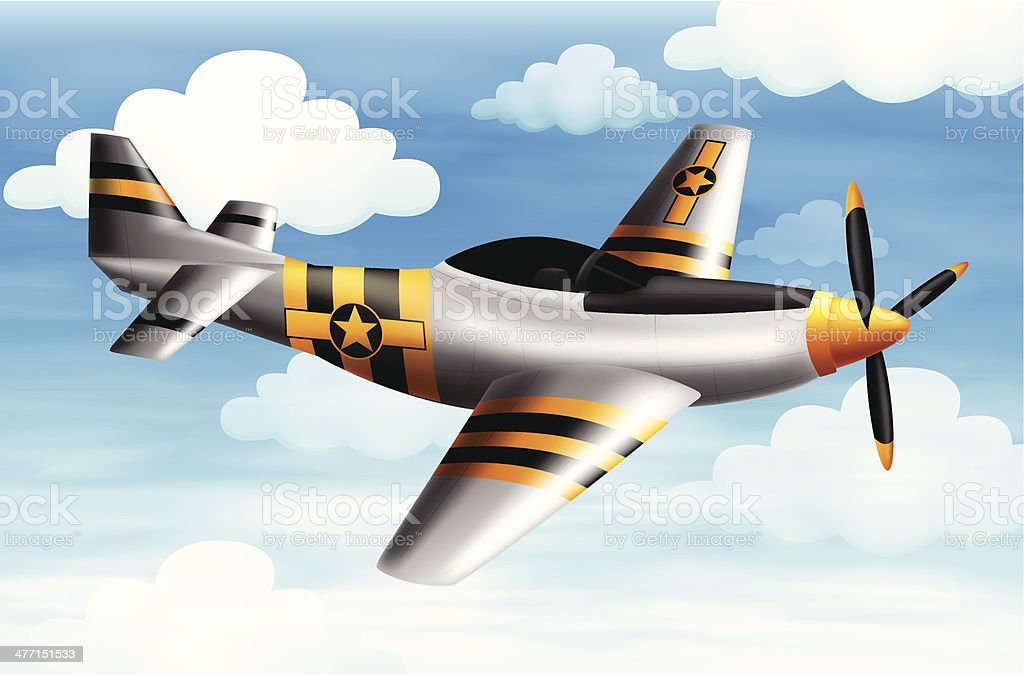 fighter plane vector art illustration