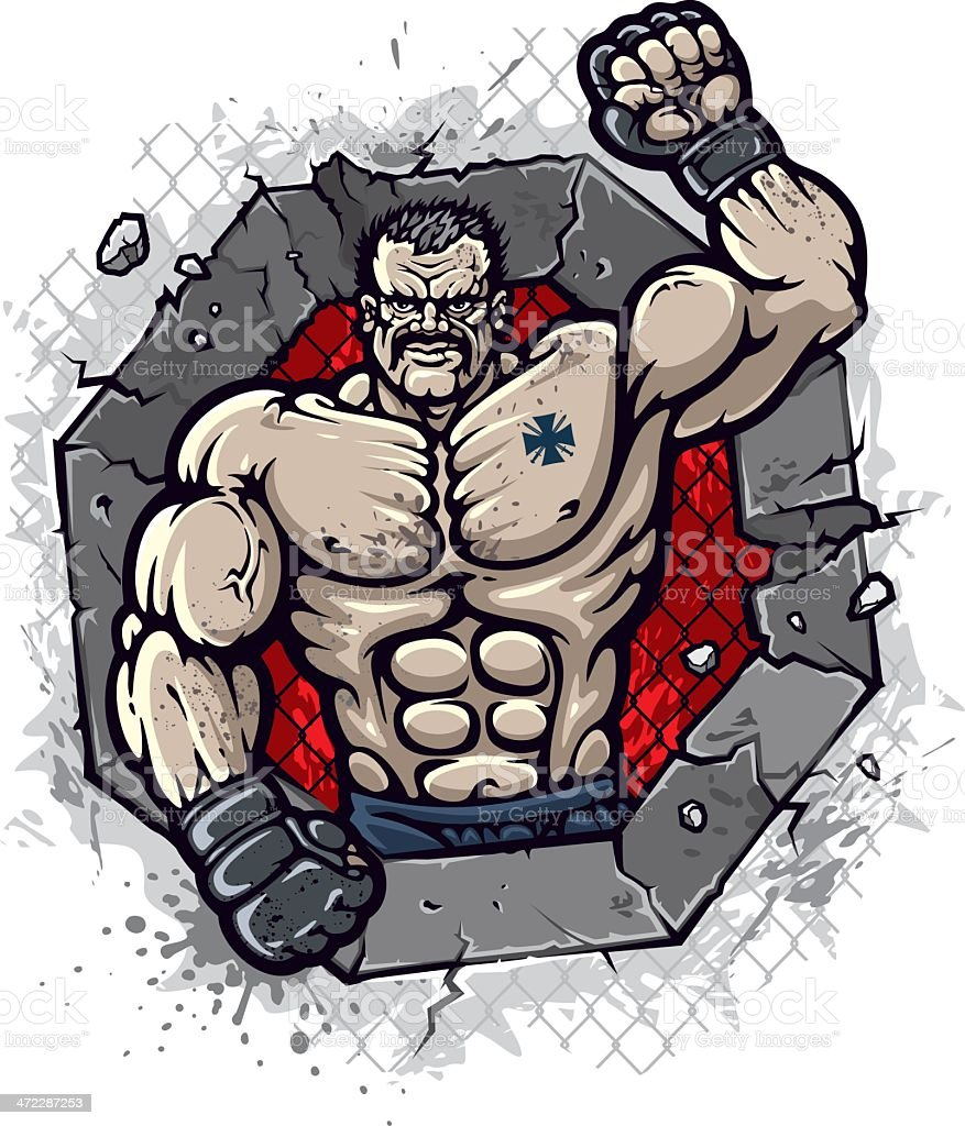 MMA fighter royalty-free stock vector art
