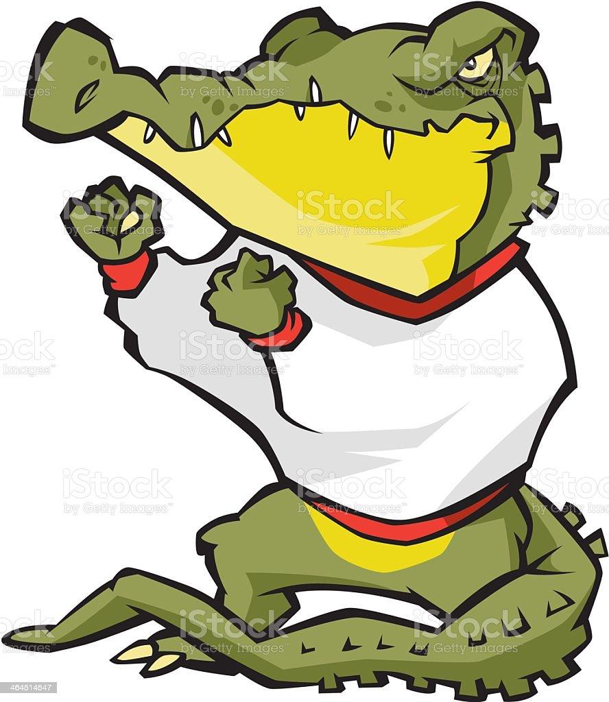Fighting Alligator royalty-free stock vector art