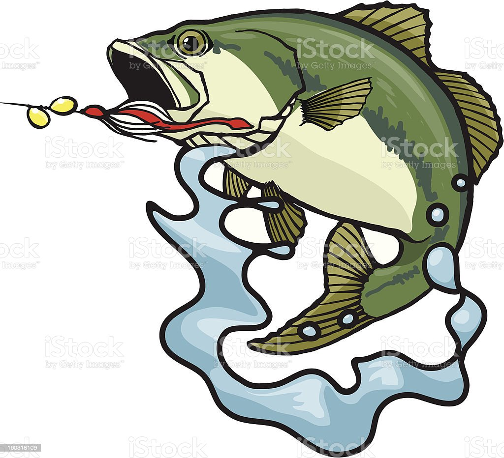 Fighting Bass vector art illustration