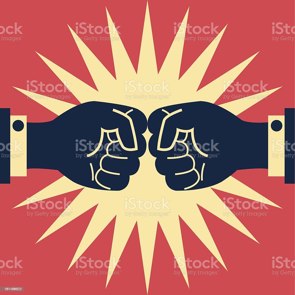 Fighting business vector art illustration