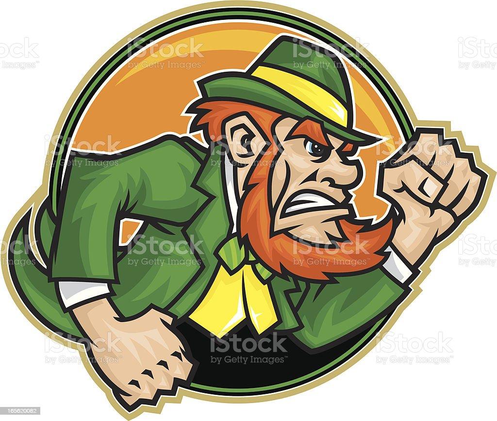 Fighting Irishman royalty-free stock vector art