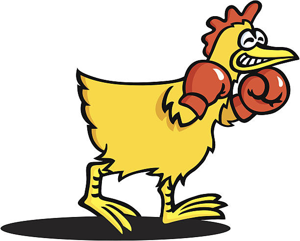 Fighting Rooster Cartoon Clip Art, Vector Images & Illustrations ...