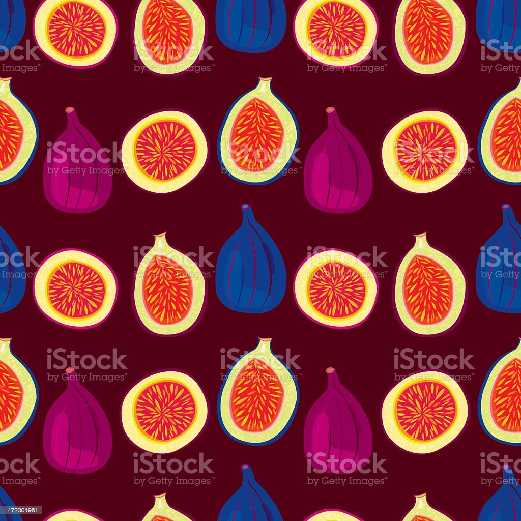 Figs Pattern royalty-free stock vector art