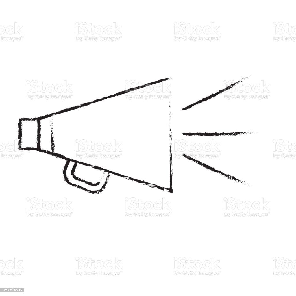 figure horn speaker studio to film scene vector art illustration