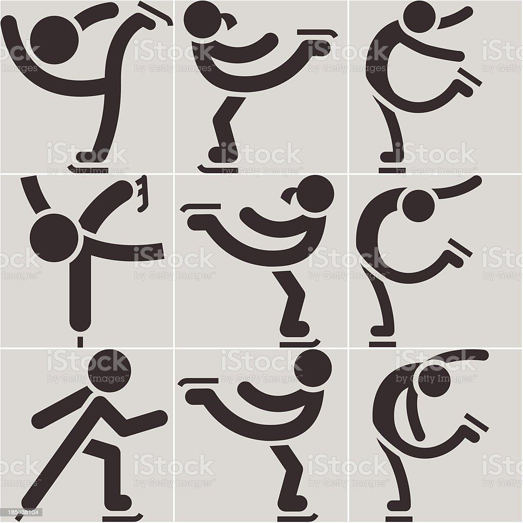 Figure skating icon royalty-free stock vector art