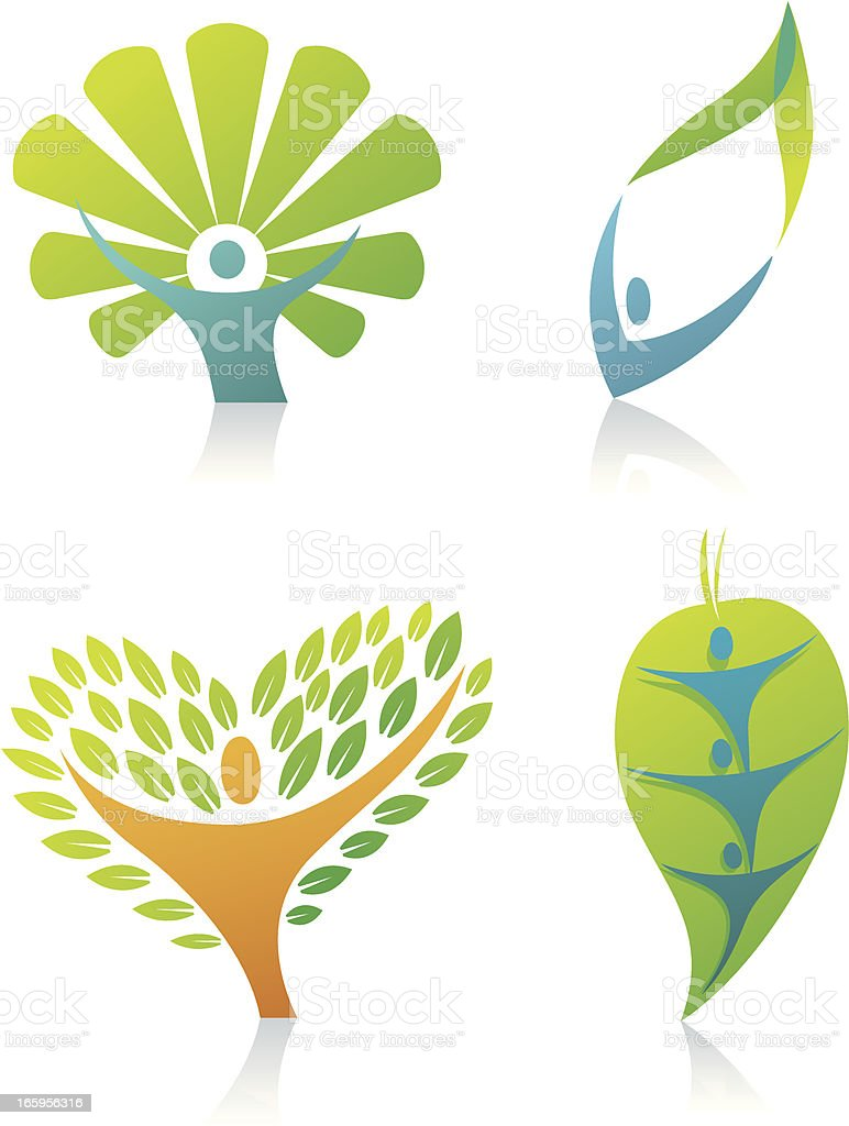 Figure tree icons royalty-free stock vector art