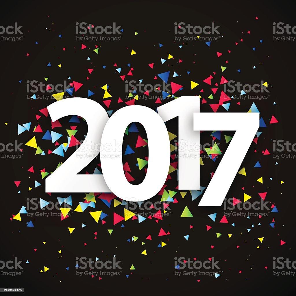 Figures 2017. Happy New Year vector art illustration