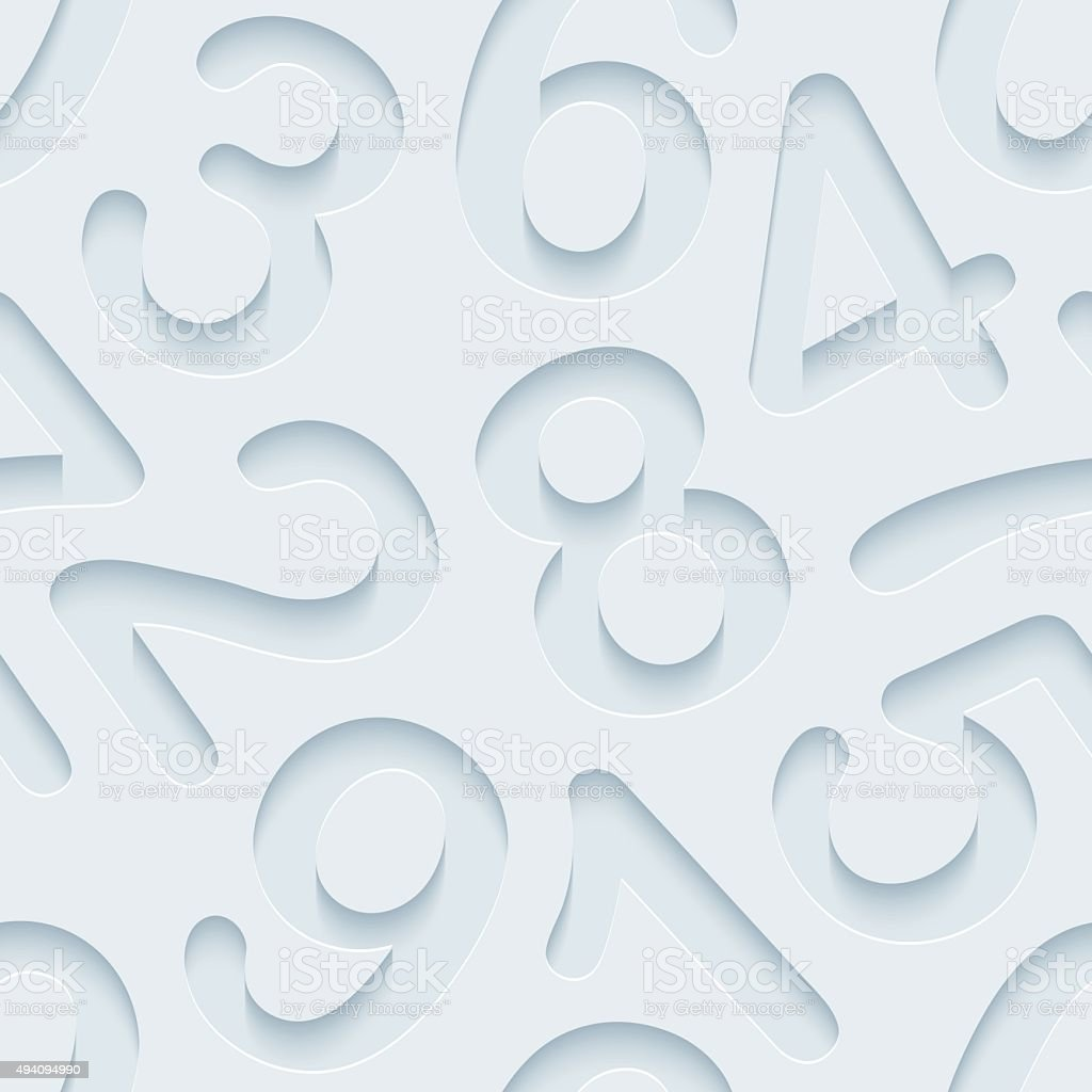 Figures 3D Seamless Wallpaper Pattern. vector art illustration
