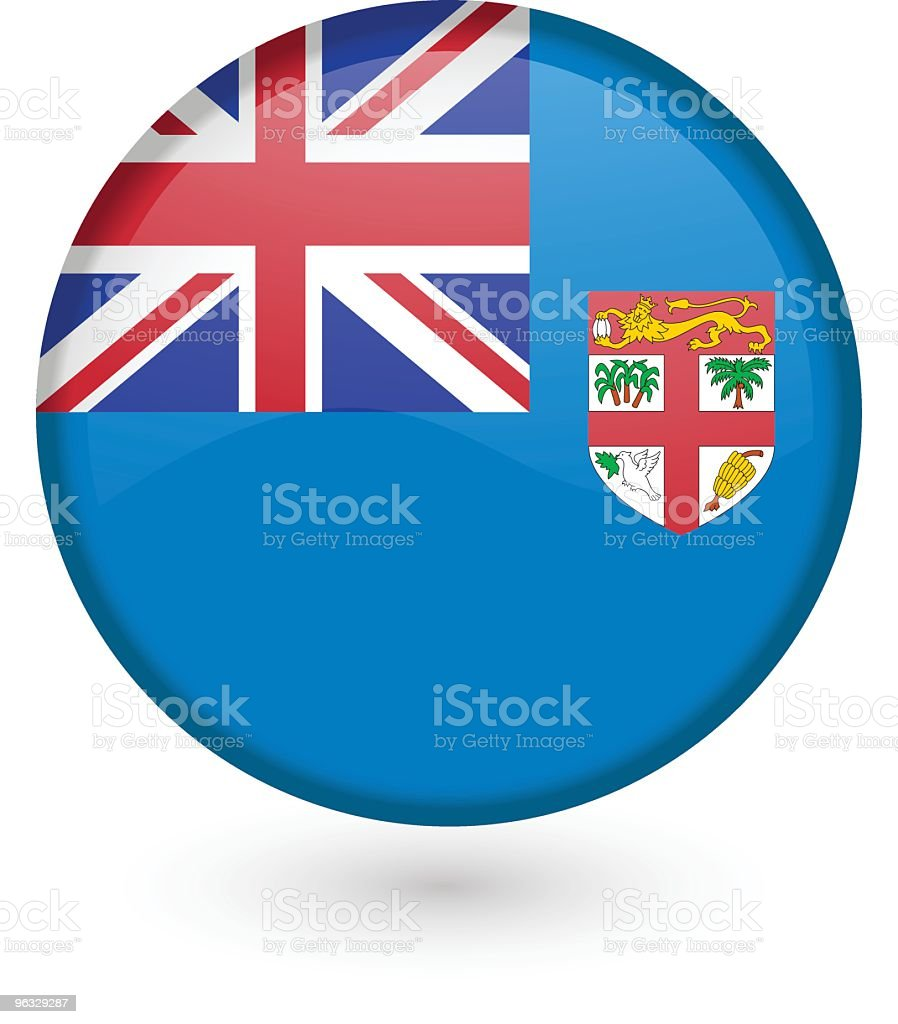 Fiji flag button royalty-free stock vector art