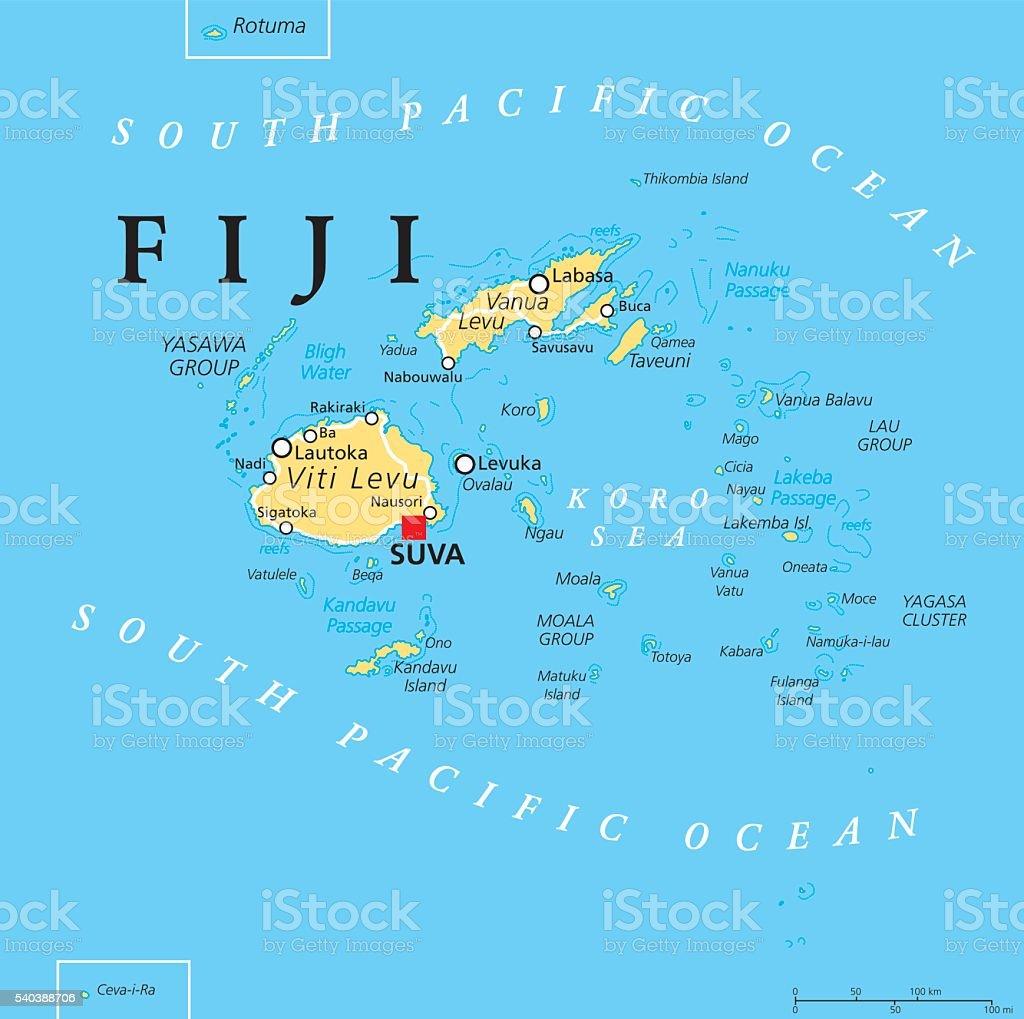 Где находится острова фиджи на карте мира