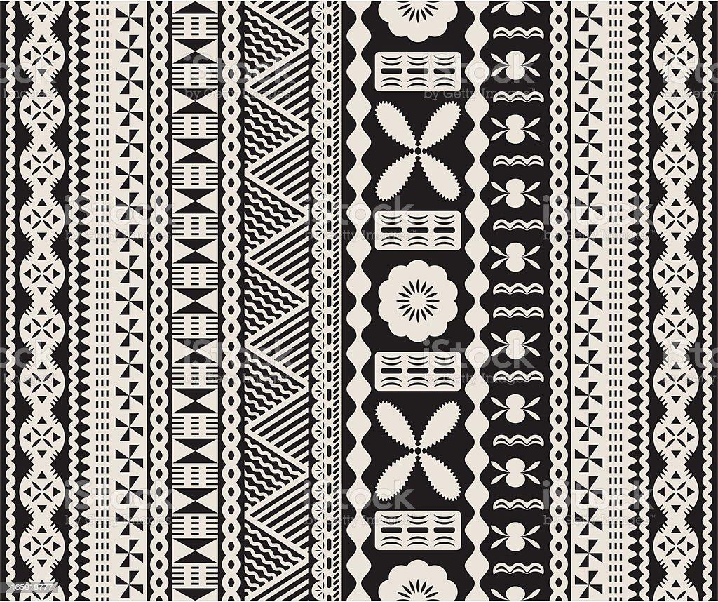 Fijian tapa pattern. royalty-free stock vector art